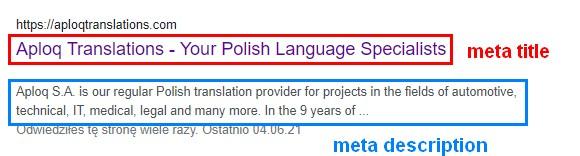 aploq SEO translations meta title